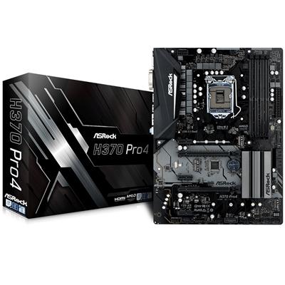 Asrock H370 Pro4 Intel Socket 1151 Coffee Lake ATX DDR4 D-Sub/DVI-D/HDMI M.2 USB 3.1 Type-C Motherbo