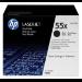 HP Pack de ahorro de 2 cartuchos de tóner original LaserJet 55X de alta capacidad negro