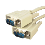 Videk DB9F-DB9F, 2m serial cable Beige