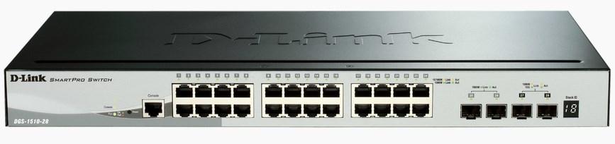 D-Link DGS-1510 Managed L3 Gigabit Ethernet (10/100/1000) Black