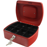 Q-CONNECT Q CONNECT CASH BOX 8INCH RED
