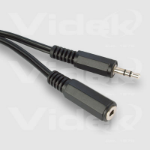 Videk 3.5mm Stereo Jack Plug to Socket 5m audio cable Black