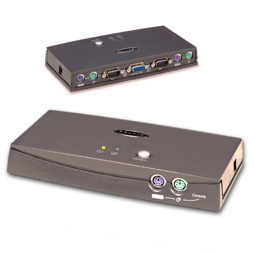 Belkin Omniview E Series 2-Port KVM switch Black