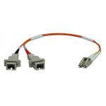Tripp Lite Duplex Multimode 62.5/125 Fiber Adapter (LC-SC M/F) 0.3M (1-ft.)