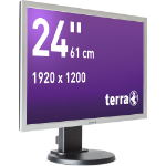 "Wortmann AG 2458W 24"" LED Flat Black, Silver computer monitor"