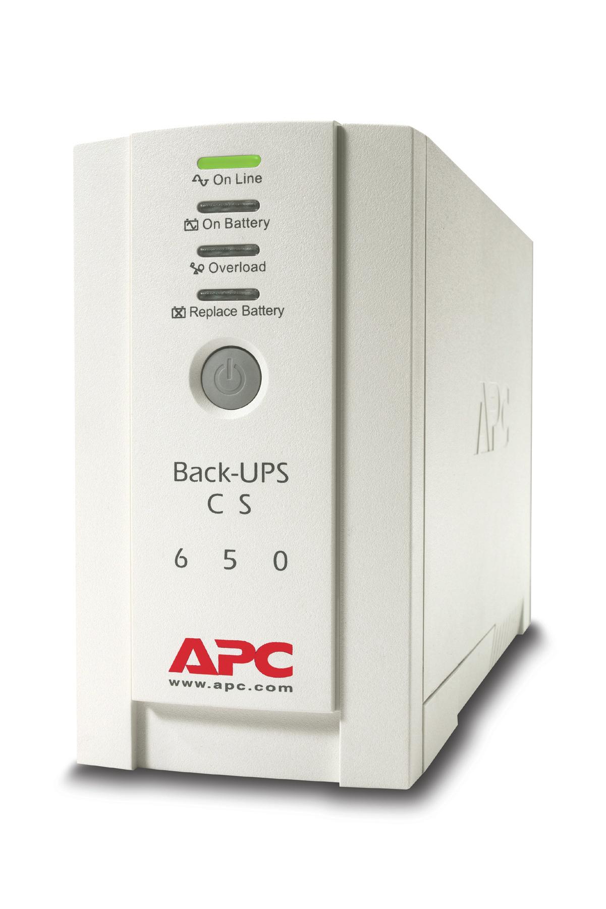 APC Back-UPS sistema de alimentación ininterrumpida (UPS) En espera (Fuera de línea) o Standby (Offline) 650 VA 400 W 4 salidas AC
