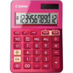 CANON LS-123M CALCULATOR 12 DIGIT DUAL POWER METALIC PINK