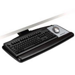 3M KNOB ADJUST KEYBOARD TRAY WITH STANDARD PLATFORM, 25.2W X 12D, BLACK