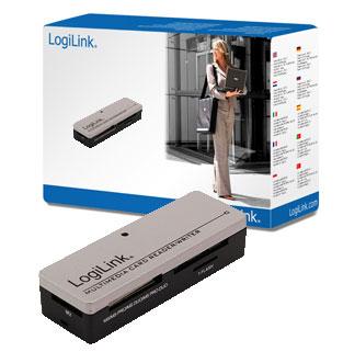 LogiLink Cardreader USB 2.0 extern Mini All-in-1 card reader Black