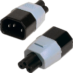 Cablenet IEC Male C14 to Clover Leaf Female C5 Power Adaptor
