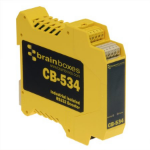 Brainboxes CB-534 serial converter/repeater/isolator RS-232 Black,Yellow