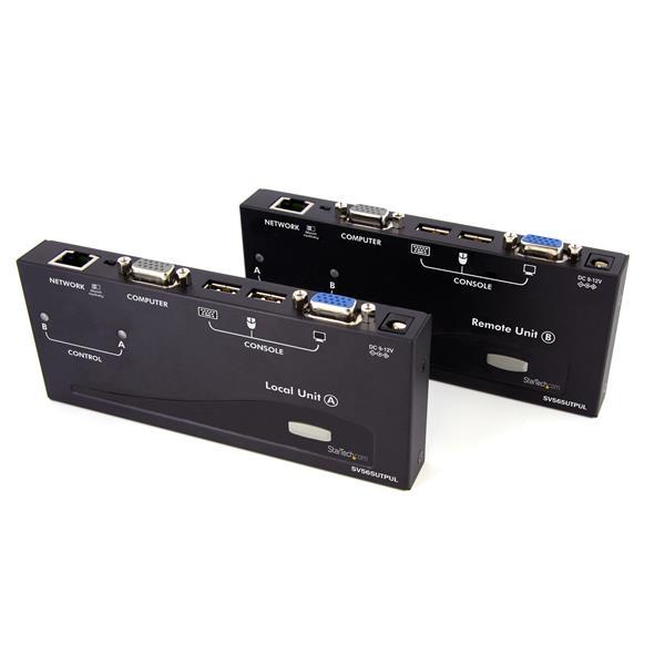 StarTech.com Long Range USB VGA KVM Console Extender over Cat5 UTP - 1000 ft SV565UTPUL