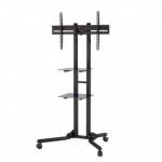 "Allcam FS1040 60"" Portable flat panel floor stand Black flat panel floorstand"