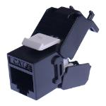Cablenet Cat5e UTP Tool-Less Keystone Jack Black