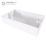 CONNEkT Gear Double Gang Back Box Surface Mount 32mm Deep - White