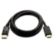 V7 Mini DisplayPort macho a HDMI macho, 2 metros, unidireccional desde DisplayPort color negro, máxima resolución de vídeo de 1080p