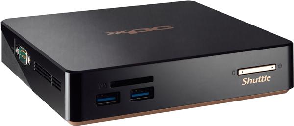 Shuttle NC01U7 BGA 1168 2.4GHz i7-5500U 0.6L sized PC Black PC/workstation barebone