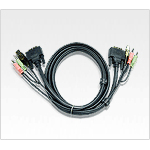 Aten 2L7D05U KVM cable Black 5 m