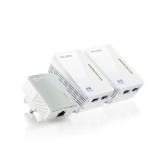 TP-Link TL-WPA4220T KIT V1.20 AV600 Powerline Universal Wi-Fi Range Extender, 2 Ethernet Ports, Network Kit - UK