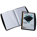 Rexel Optima Display Book 20 Pockets Black