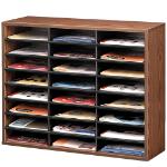 Fellowes 25043 literature rack 24 shelves Wood