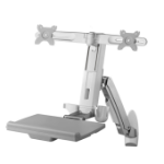 Amer DUAL COMBO WORKSTATION WALL MOUNT SYSTEM