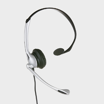 JPL JAC001121 Monaural Head-band Black,Silver headset