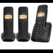 Gigaset A120 Trio Teléfono DECT Negro Identificador de llamadas