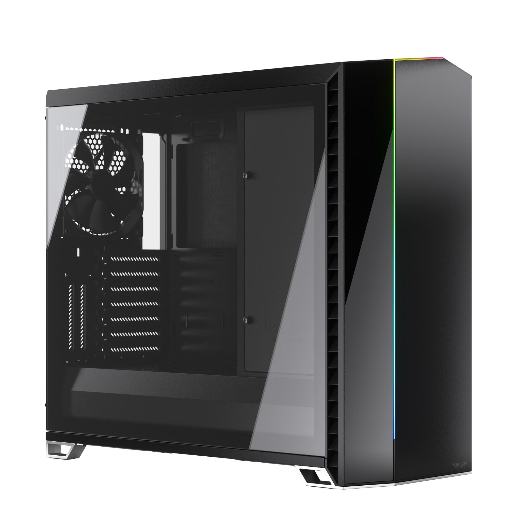 Fractal Design Vector RS Tempered Glass Tower Black,Transparent