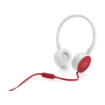 HP H2800 headset Binaural Red, White