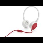 HP H2800 Binaural Red,White headset