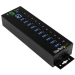 StarTech.com 10-Port Industrial USB 3.0 Hub - ESD and Surge Protection
