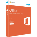Microsoft Office 2016 Home & Business, Retail Software, 1 User - Medialess V2