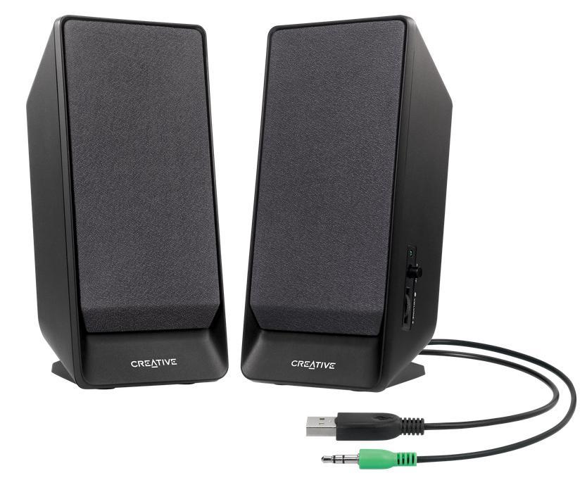Creative Labs A50 1.6W Black loudspeaker