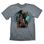 DEFENSE OF THE ANCIENTS (DOTA) 2 Men's Roshan T-Shirt, Extra Large, Grey (GE1096XL)