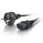 C2G 1m 16 AWG European Power Cord (IEC320C13 to CEE7/7)