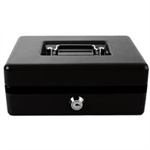 Q-CONNECT KF02602 Black cash/ticket box