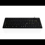 Accuratus WP127 V2 keyboard USB + PS/2 QWERTY English Black
