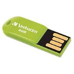 VERBATIM 8GB EUCALYPTUS GREEN MICRO USB DRIVE STORE 'N' GO VERBATIM