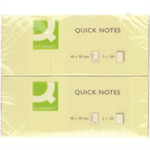 Q-CONNECT Q CONNECT QUICK STICKY NOTE 38X51MM YLW