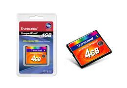 Transcend TS4GCF133 4GB CompactFlash MLC memory card