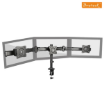 Brateck Outstanding Three LCD Desk Mounts with Desk Clamp VESA 75/100mm Up to 27""