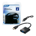 Innovation IT 2A 301361 DISPLAY video cable adapter HDMI VGA (D-Sub) Black