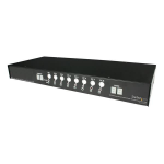 StarTech.com 1U Rackmount Power Switch 8 Outlet 15 Amp RS232 Serial Control PDU power distribution unit (PDU)