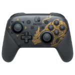 Nintendo Pro Controller Monster Hunter Rise Edition Black, Gold Bluetooth Gamepad Analogue / Digital Nintendo Switch