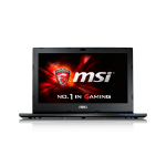 "MSI Gaming GS60 6QE(Ghost Pro)-437 2.6GHz I7-6700HQ 15.6"" 1920 x 1080pixels Black Notebook"