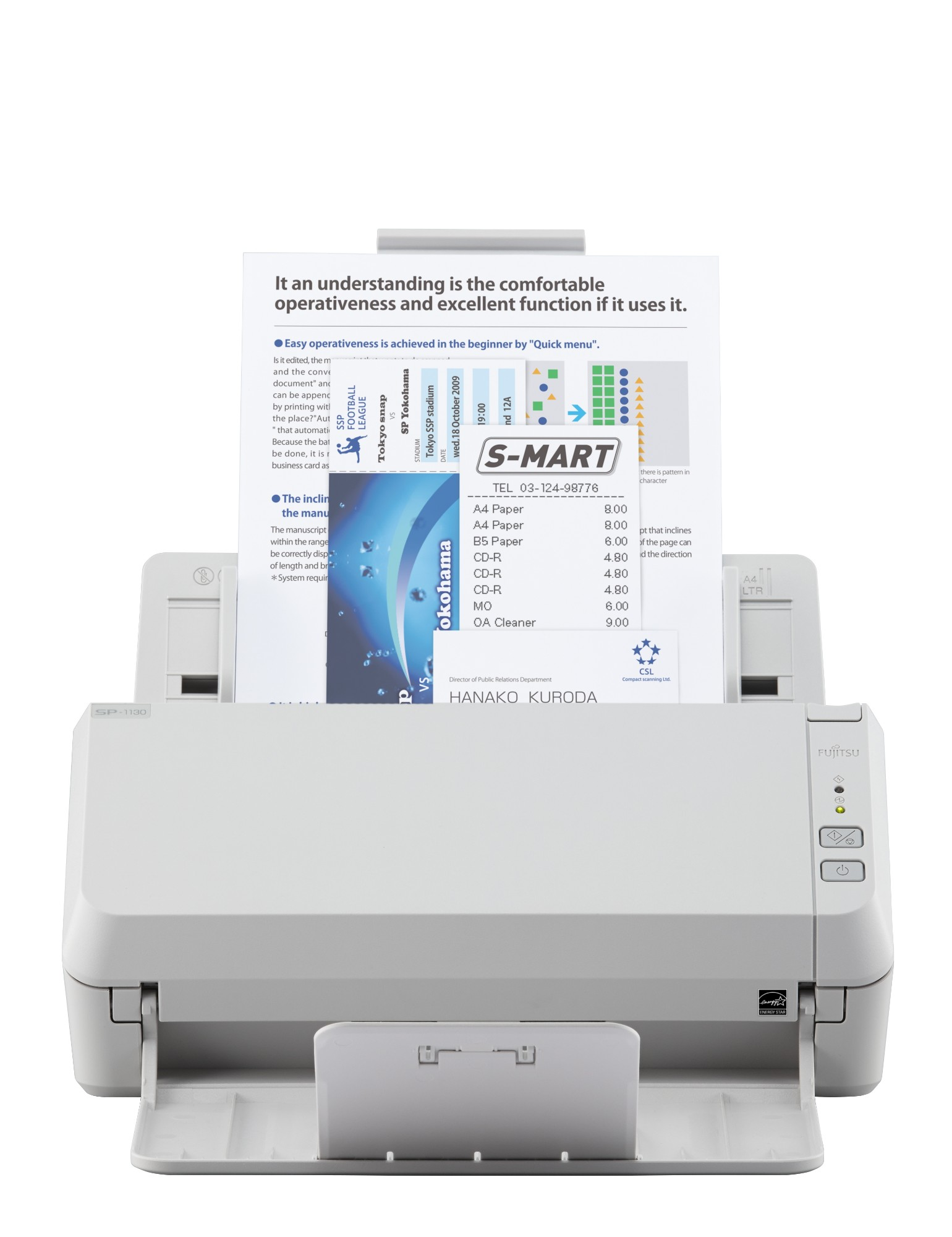 Fujitsu ScanSnap SP-1130 ADF scanner 600 x 600DPI A4 White