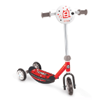 FUNBEE Kid's Three Wheel Tri Scooter with Adjustable Handlebar and Front Plate, Multi-colour (OFUN13M)