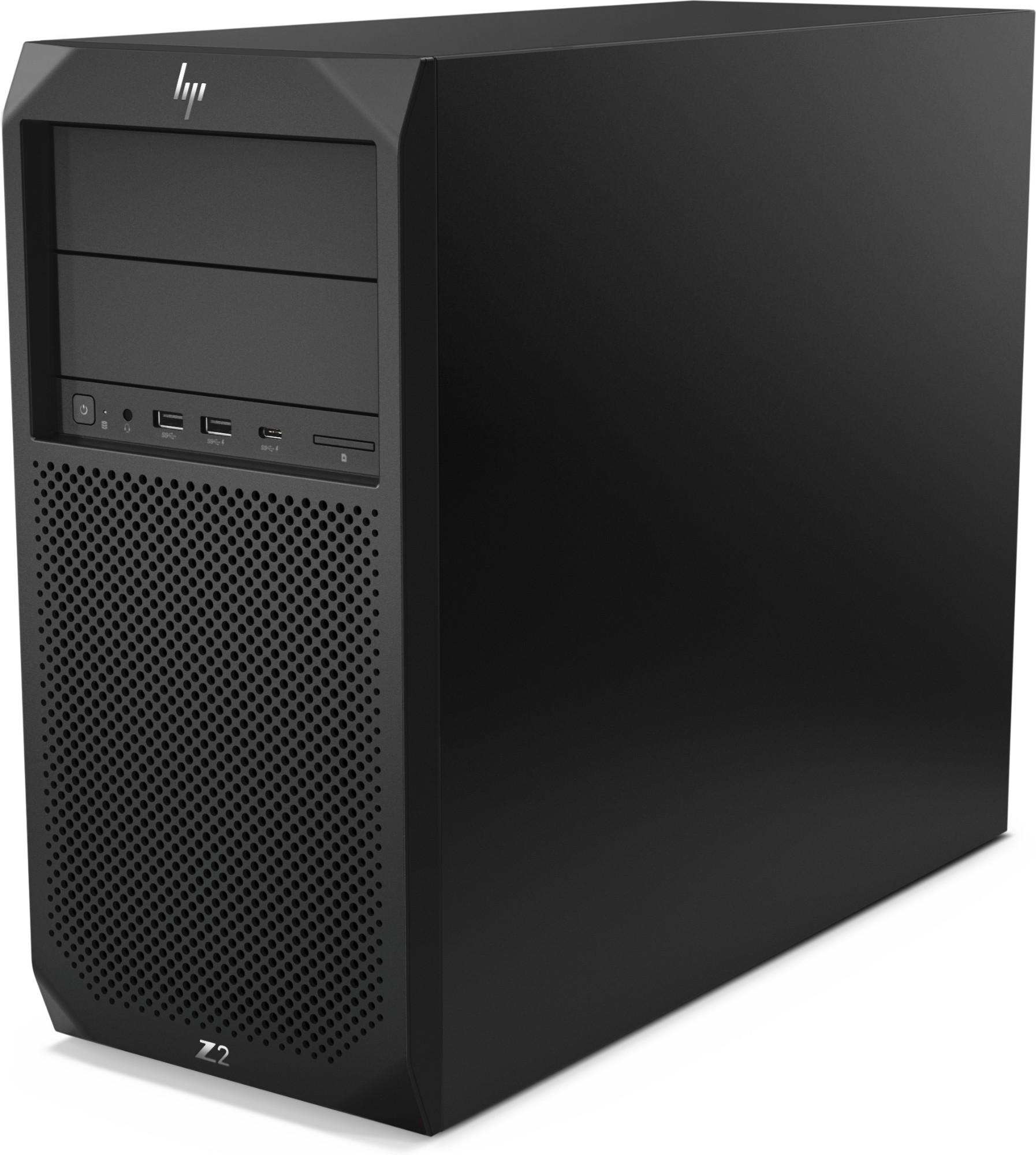 HP Z2 G4 8th gen Intel® Core™ i7 i7-8700 16 GB DDR4-SDRAM 1000 GB HDD Tower Black Workstation Windows 10 Pro