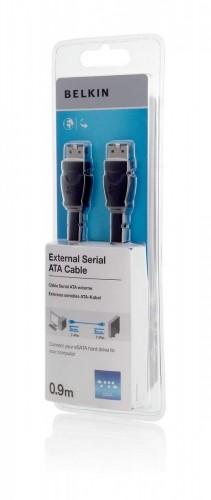 Belkin F2N1192CP0.9M 0.9m eSATA eSATA Black SATA cable